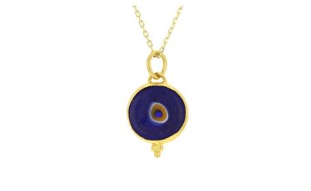 Evil eye pendant, 24kt gold layered evil eye pendant 709ba778-a85b-4559-9c81-535b62853b2a