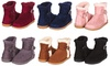 208- Winter Cold WeatherFur Lined Mid Calf Boot