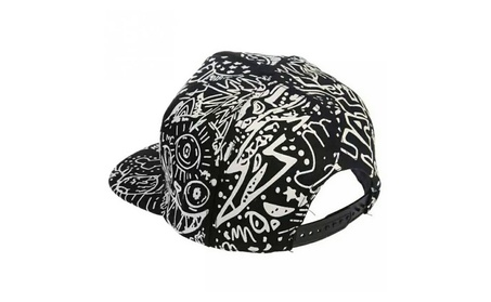 Unisex Doodle Luminous Glow in the Dark Hat Snapback Cap 204f8740-6495-479c-bf27-5c4af58ce79a