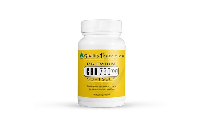 Potent Cbd Softgel Capsules 750mg Omega 3 6 9 Fatty Acids Natural Terpenes Groupon