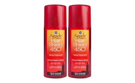 Agadir Argan Oil Hair Shield 450 Spray Treatment 6.7 fl oz (Pack of 2)