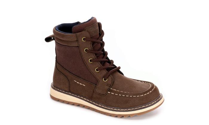 9d7eaeba48f0 Highland Creek Boys Beau High Top Boot Shoes