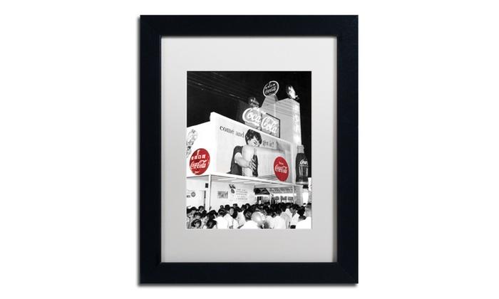 Groupon Goods: Coca Cola 'Color Splash Vintage Photography 8' Matted Black Framed Art
