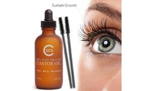 Pure Organic Castor Oil for Eyelashes (2 Fl.Oz.)