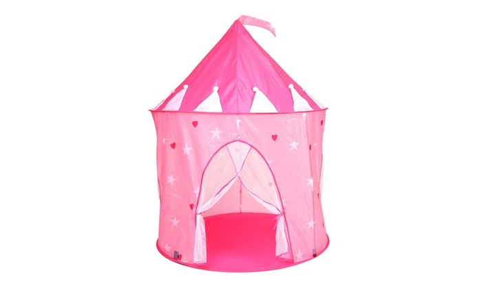 DEALJOCK Alina Princess Castle Play Tent Pink Hearts or Pink Crowns ...  sc 1 st  Groupon & Alina Princess Castle Play Tent Pink Hearts or Pink Crowns | Groupon