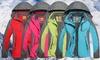 Sun Women Hooded Windproof Waterproof Lightweight Rain Jacket