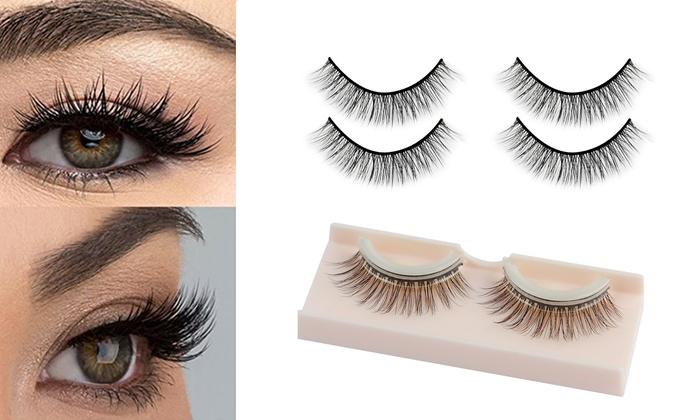 5434d5b779a Self Adhesive Eyelashes No Glue Reusable Natural Mink Fake Lashes with  Tweezers
