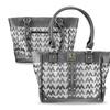 Zodaca Jacquard Fabric Shoulder Bag Gray