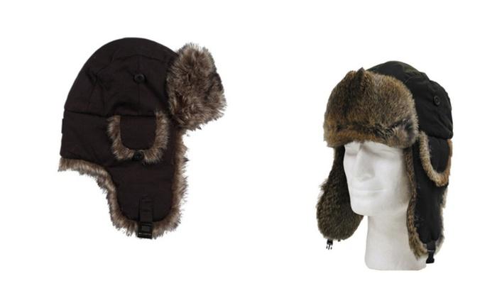 Comfortable Cold Weather Trapper Warm Hat Faux Fur