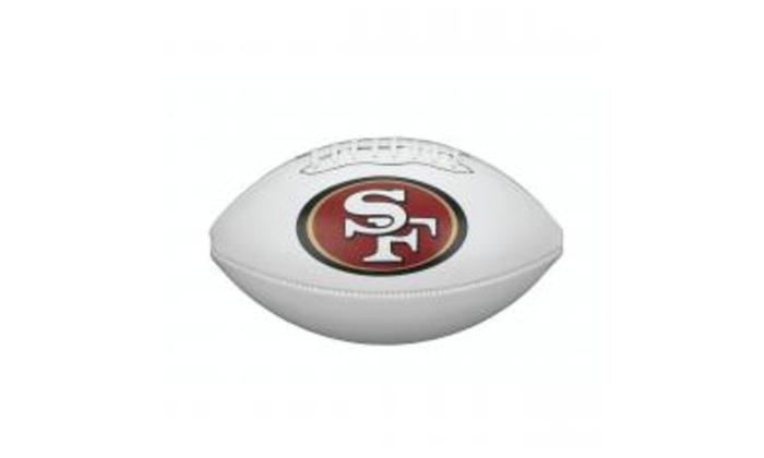 3bad00dd4 49ers Quarterback Jimmy Garoppolo Autographed 49er Logo Football ...