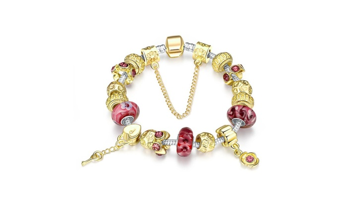 Stylinbox: Fashion Bracelets Jewelry Bangles Charm Beads - Silver Plated