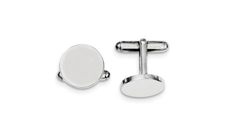 Sterling Silver Engravable Round Cuff Links a6afa21c-b07b-4151-9174-cb4a2706c0eb