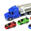 Tuner King Trailer Friction Toy Truck 1:24 (Colors May Vary)
