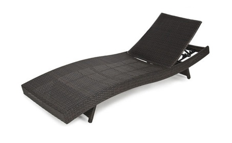 Pool Chaise Lounge Chair Adjustable Wicker Rattan Outdoor Furniture 6b835c92-ccbb-431f-adcc-45a630e739b6