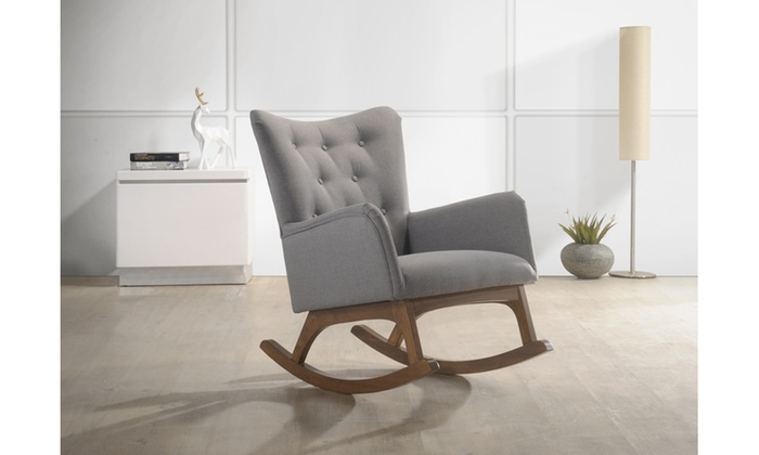 Micah Grey Fabric Rocking Chair ...