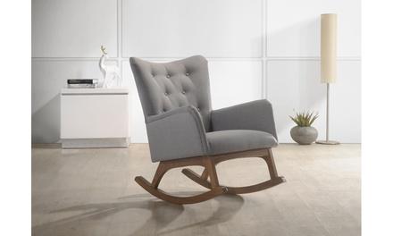 Micah Grey Fabric Rocking Chair