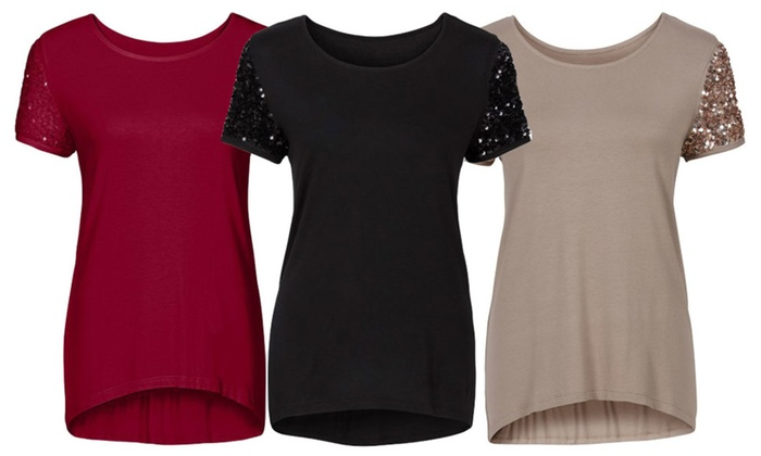 Addicted to Love Sequin Sleeve Top
