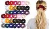 Elastic Velvet Hair Scrunchies - Assorted Colors - 18 Pack or 36 Pack