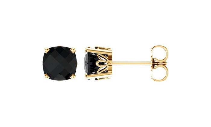 59014fa47 Up To 43% Off on 14K Yellow Onyx Earrings | Groupon Goods