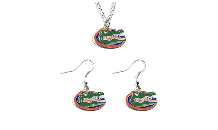 Necklace And Dangle Earring Charm Set - NCAA