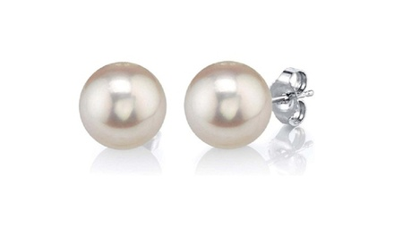 24k white Gold 7 MM Pearl Stud Earrings Was: $99 Now: $10.99.