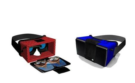 VR Glasses Cardboard Headset With Adjustable Head Strap ca9a860a-6483-4d59-8fea-676bda7e6230