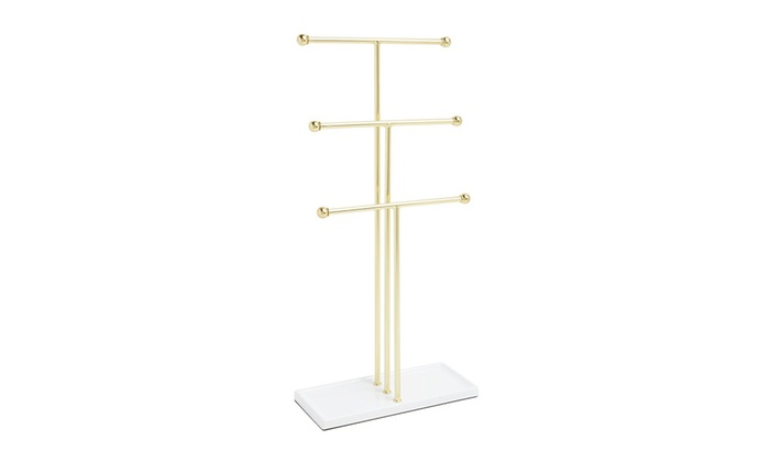 Umbra Trigem Hanging Jewelry Organizer 3 Tier Extra Tall Tabletop