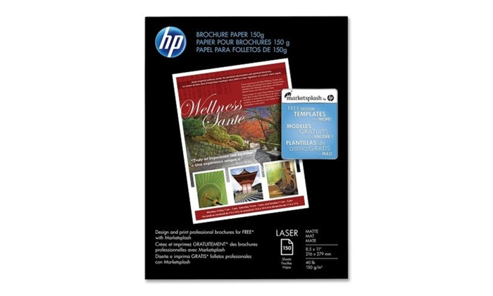 Up To 34 Off On Hp Brochure Laser Paper Let Groupon Goods