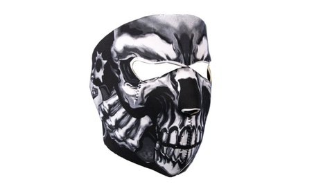 Assassin Skull Face Mask Reversible Snow Skateboard Sports Facemask