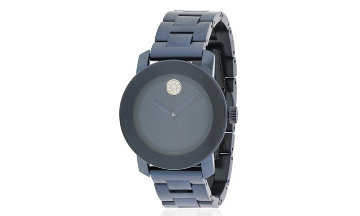d7fd16057 Up To 18% Off on Movado Bold Blue Stainless St... | Groupon Goods