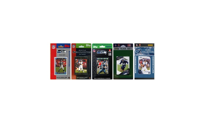 NFL Seattle Seahawks 5 Different Licensed Trading Card Team Sets
