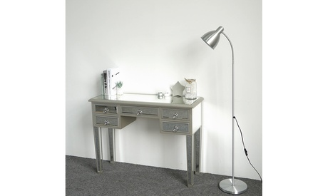 5 Drawer Modern Furniture Glass Console Mirrored Vanity Makeup Table