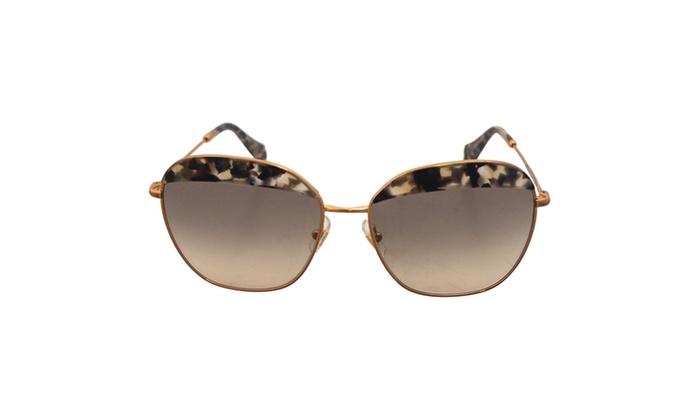 Miu Miu MU 53QS DHE3H2 – Havana Marble White – 59-16-104 mm Sunglasses