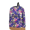 Back to School Floral Canvas Backpack