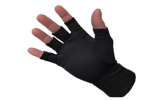 Winter Fingerless Soft Self Warming Compression Warm Gloves Fashion