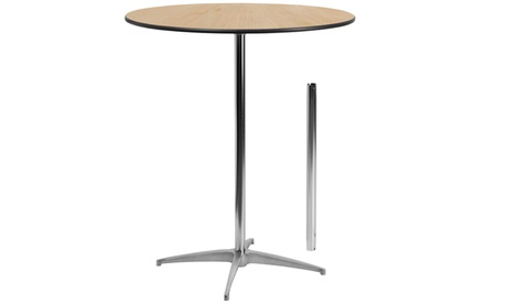 "36"" Round Wood Cocktail Table with 30"" and 42"" Columns 931d9276-d19f-4153-8458-4aa93cc3b485"