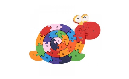 Wooden Snail Shape Puzzle Jigsaw Alphabet Number Blocks Kid Educationa c09be347-5d37-4f47-979b-df1ae303d7b3
