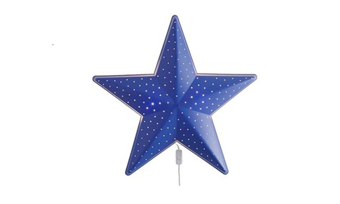 Blue Star Shaped Brighter Wall Lamp