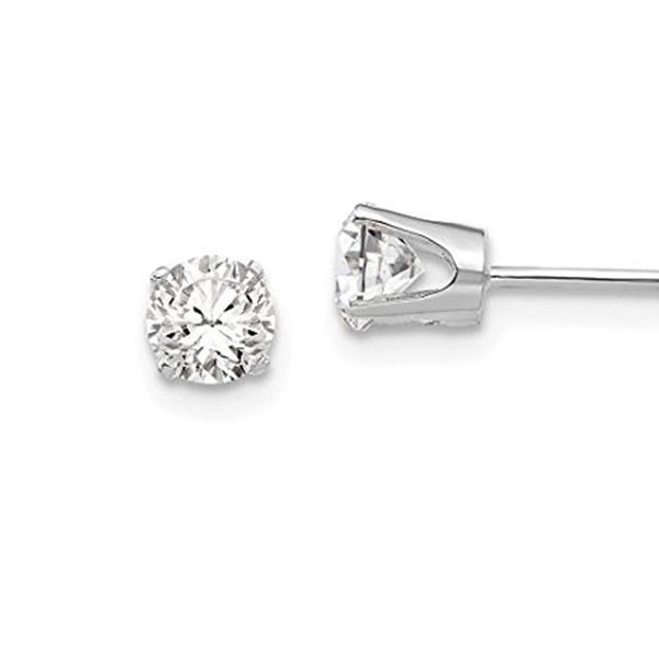 282625ab9 Up To 91% Off on 14k White Gold 4.25mm Ball Bu... | Groupon Goods