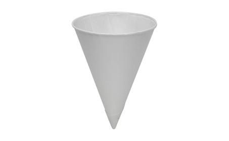 Konie 60KBR 6 oz. Rolled-Rim Paper Cone Cups, White 5328daf1-c38e-4c4d-af1d-89b51b5c8b5d