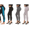 Coco Limon Women's 6 Pack Printed and Solid Color Long Fleece Line Leggings