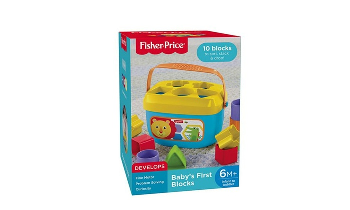 Fisher Price Baby/'s Toddler First Blocks Fine Motor Curiosity Toys 6 Months+