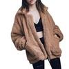Women's Lapel Long Sleeve Faux Shearling Coat