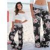 Women's Floral Yoga Palazzo Trousers Women's Summer Wide Leg Pants