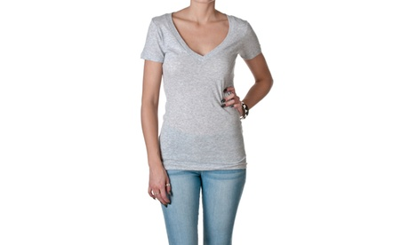 NLA Cotton Deep V Short Sleeve Tee, 3540-1 c6575afa-d748-41e0-8e16-3590bd3b1899