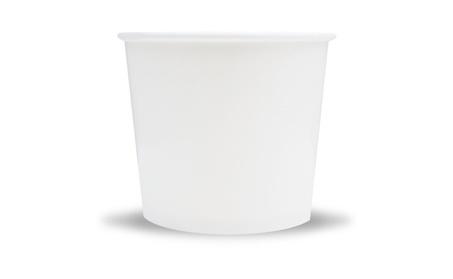 Frozen Dessert Supplies 12 oz White Paper Ice Cream Cups 205796bf-842c-4218-aac1-17e5d549ed4d