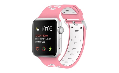 Replacement Soft Breathable Silicone Wristband Straps For Apple Watch a3deaa13-ffd6-489b-a9b8-9e65ad381785