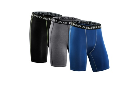 Men's 3 Pack Compression Shorts