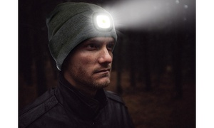 Unisex Beanie with High-Intensity Rechargeable Light