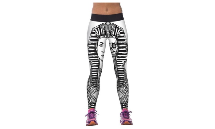 Women's Queen of Egypt Prined Elasticity Tight Fitness Pants Leggings